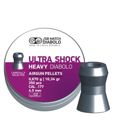JSB Ultra Shock Heavy 4,52 мм 0,67 гр (350 шт.)